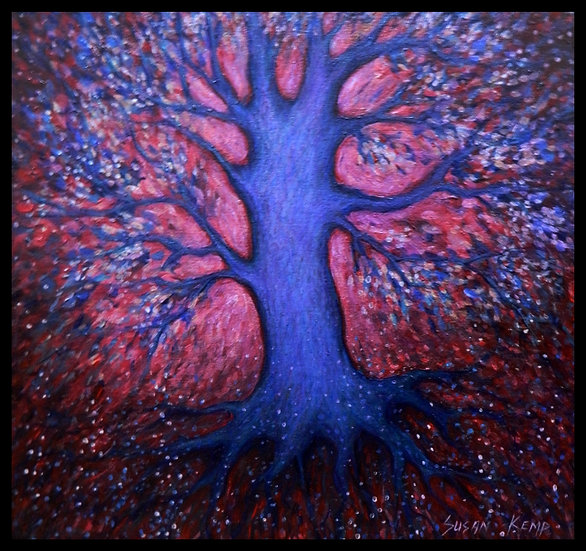 A TREE OF LIFE, oil on canvas, by Susan Kemp.