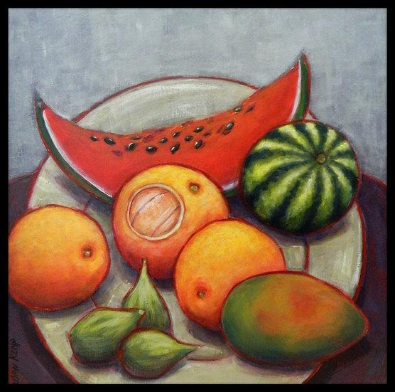 FREDA INSPIRATION, acrylic on canvas, by Susan Kemp.