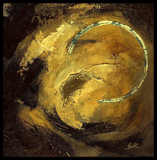 CIRCLE GALAXY II. Acrylic on canvas, by Susan Kemp.