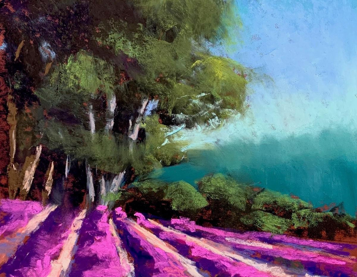 Lavender and Trees