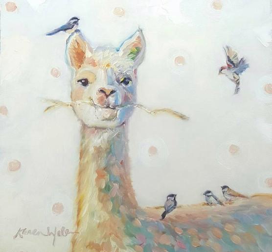 Painting by Karen Weber