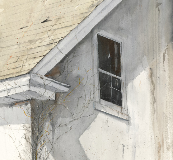 """Winter Creeper Watercolor, 29"""" x 21""""; $2200"""