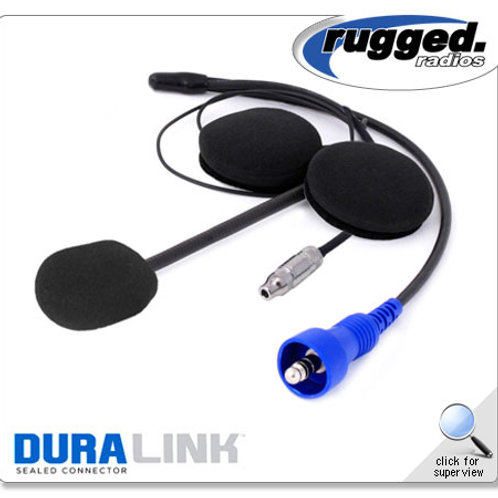 Offroad Helmet Kit with Flex Boom, Helmet Speakers, and 3.5mm Ear Bud Jack