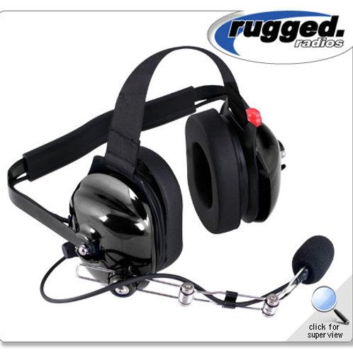 H42 Black 2-Way Radio Headset w/ PTT