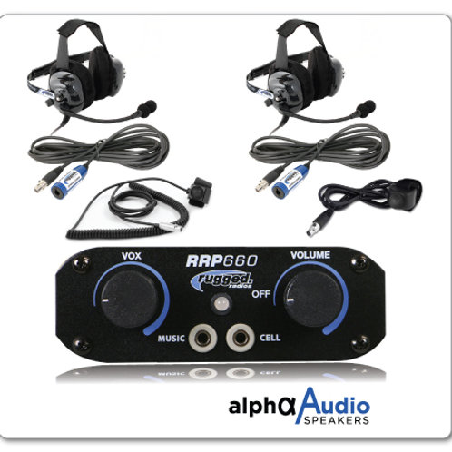 RRP660 2-Place Intercom with Behind the Head Ultimate Headsets