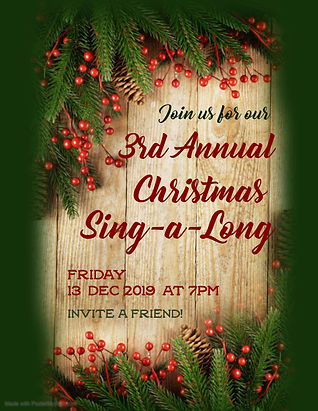 Copy of 3rd Annual Christmas Sing a long