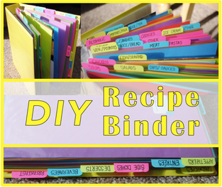 DIY: Recipe binder