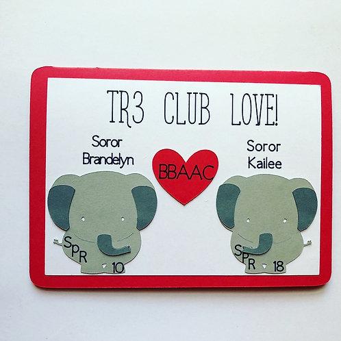 Sorority Club Love Card