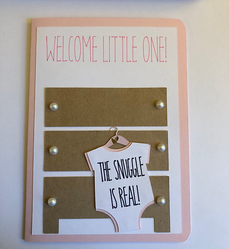 The Snuggle is Real Baby Card