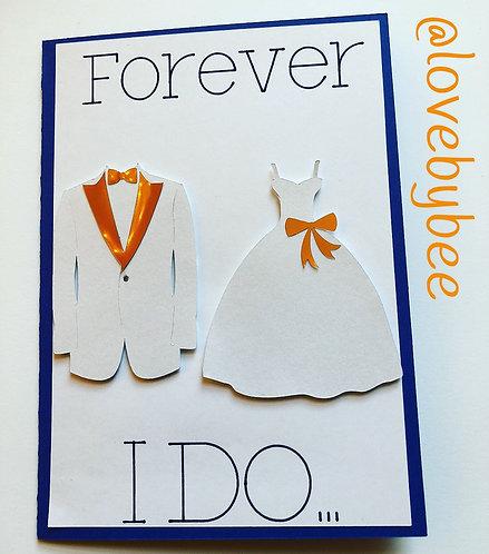 Something Blue Wedding Card