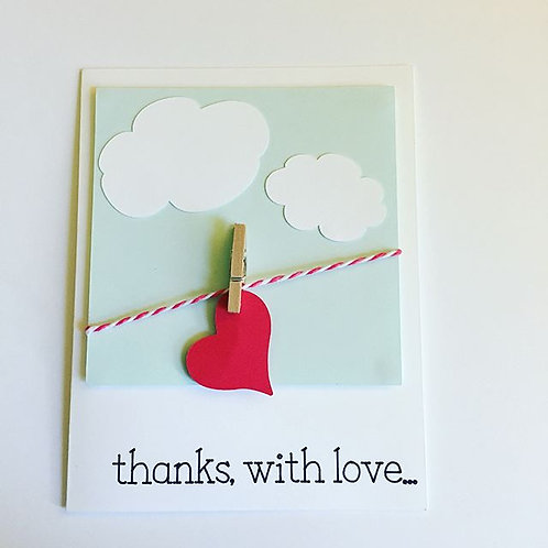 Thanks With Love Card