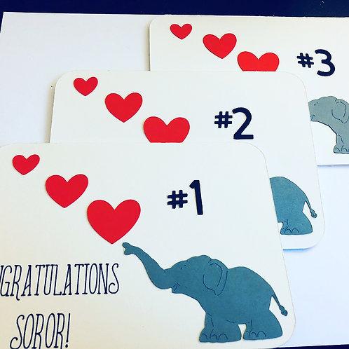 Sorority Elephant Hearts Card