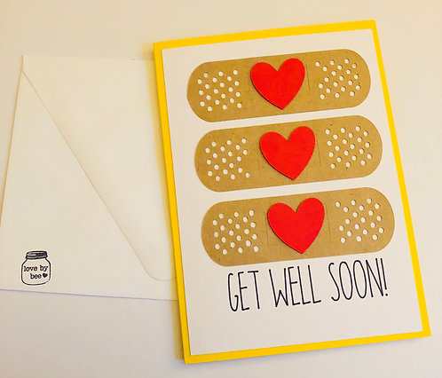 Get Well Band-Aid Card