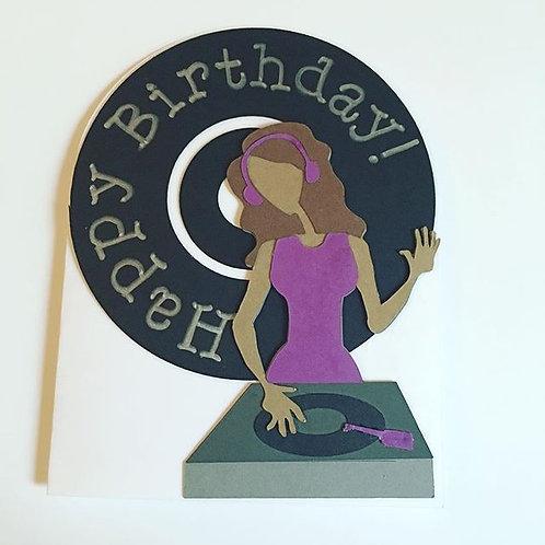 Happy Birthday DJ Card
