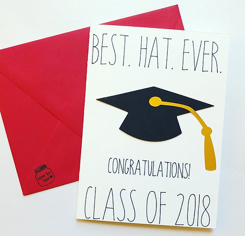 Best Hat Ever Graduation Card
