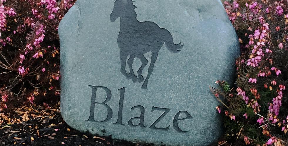 Natural River Rock Horse Memorial