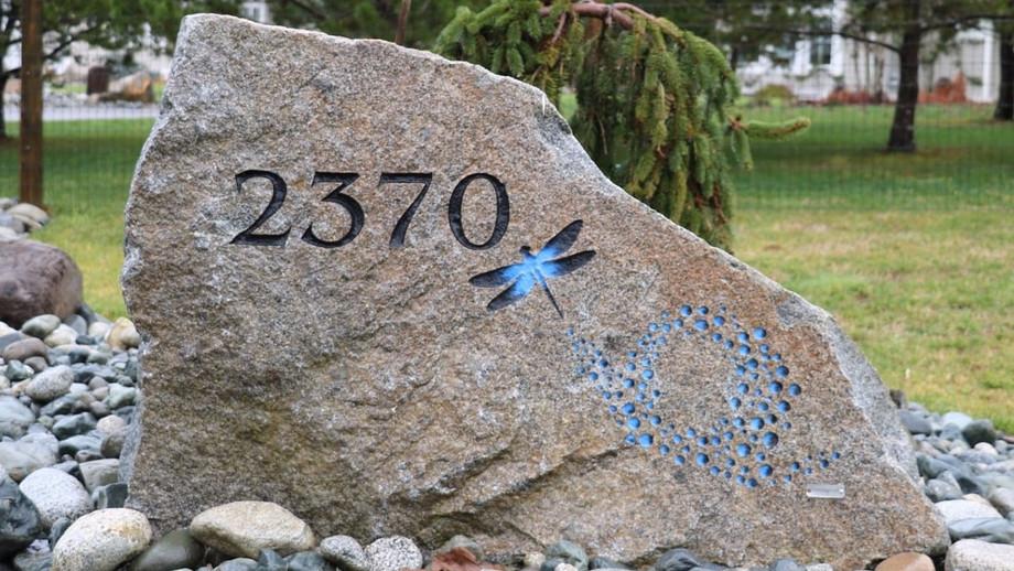 Custom Address Rock