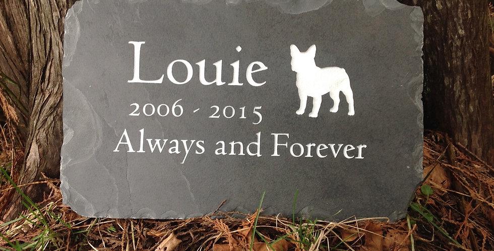 Natural Slate Dog Memorial
