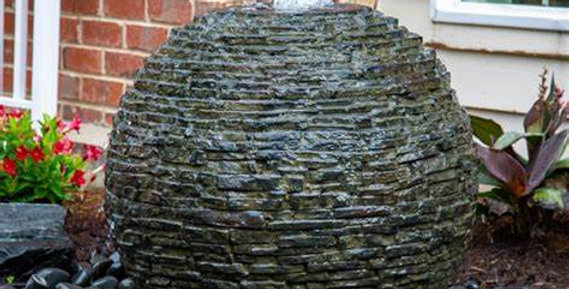 Medium Stacked Slate Sphere Complete Fountain Kit