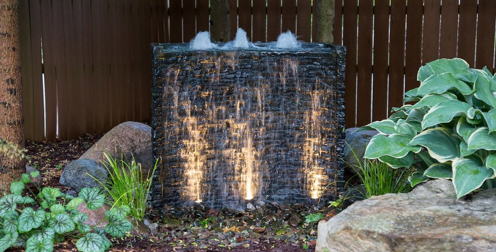 "Stacked Slate Spillway Wall 32"" Fountain Kit"