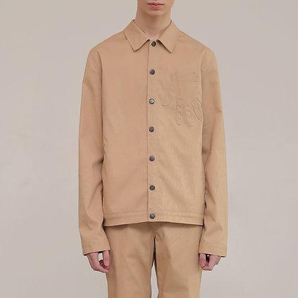 Beige Corduroy Jacket Hand Pockets