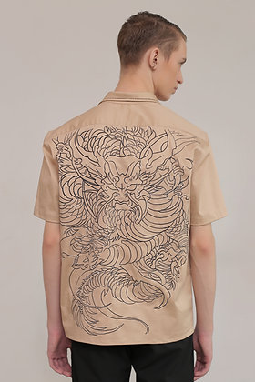 Embroidered Dragon Tattoo Shirt