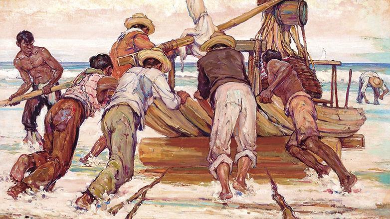 Rolando a jangada para o mar - 1941 - Raimundo Cela_edited.jpg