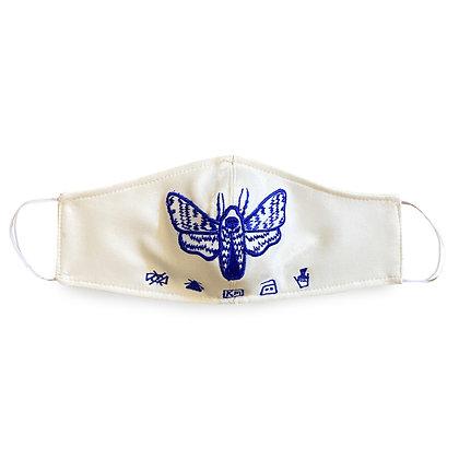 Embroidered Blue Moth Mask        (Set of 3)