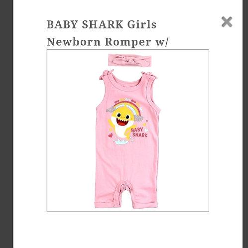 Baby Shark baby girl romper