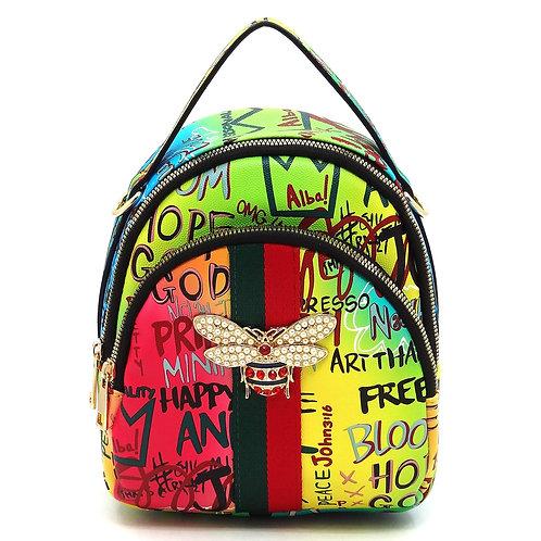 Graffiti 2 in 1 backpack satchel
