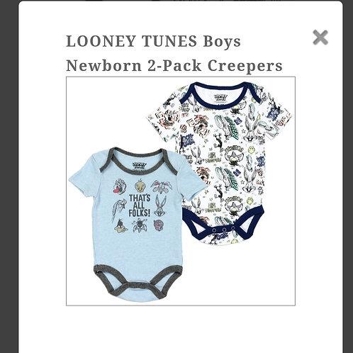 Looney Tunes baby boy onesies