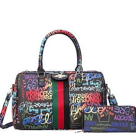 Graffiti Weekender bag