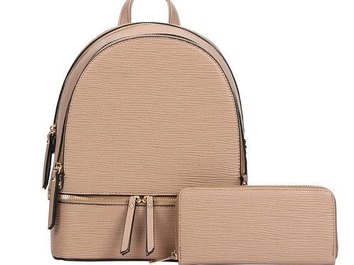 Khaki Backpack &Wallet
