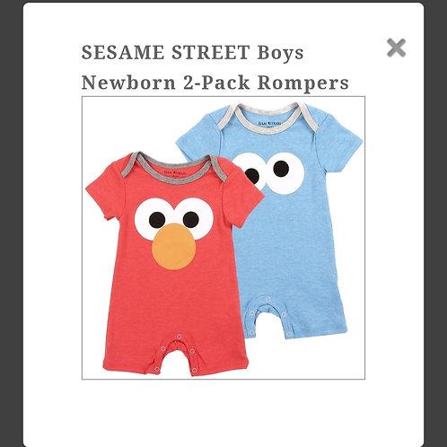 Sesame Street baby boy rompers