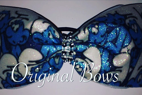 Smurfs Glitter Tailless Cheer Bow