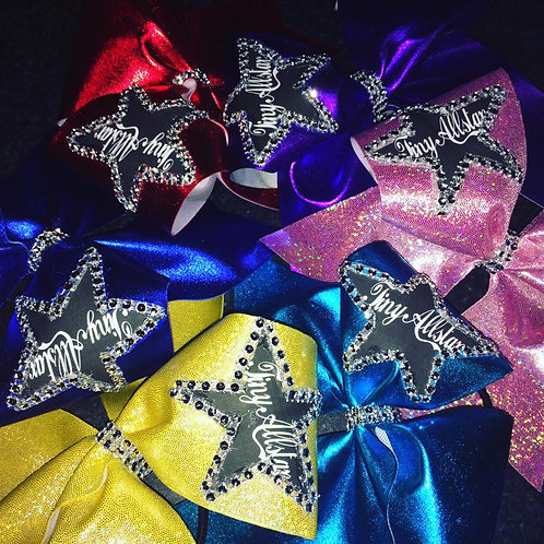 Custom Design your own Mystique Fabric Team CHEER Bow