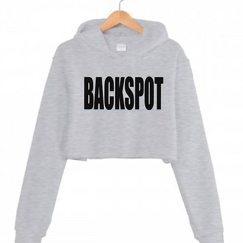 BACKSPOT Grey Cropped hoodie
