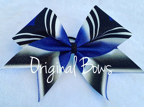 Girl POWER Royal Blue Glitter Cheer Bow