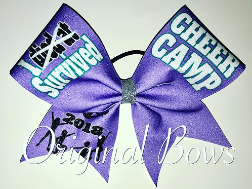 I Survived Cheer Camp 2018 Glitter Bow