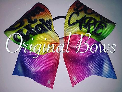 Gym Hair Don't Care Rainbow Galaxy Grosgrain Cheer Bow