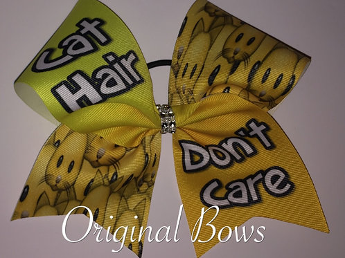 Cat Hair Don't Care Grosgrain Cheer Dance Bow