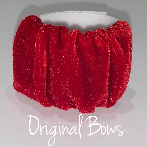 Red Velvet Scrunchie hair pony cuffs