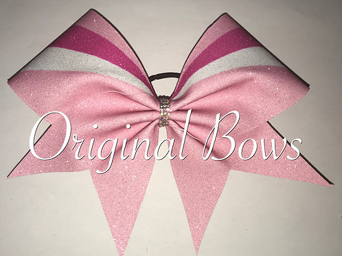 Pink 2 toned glitter Bow