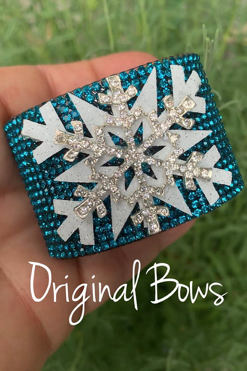 Rhinestone Snowflake Pony Cuff