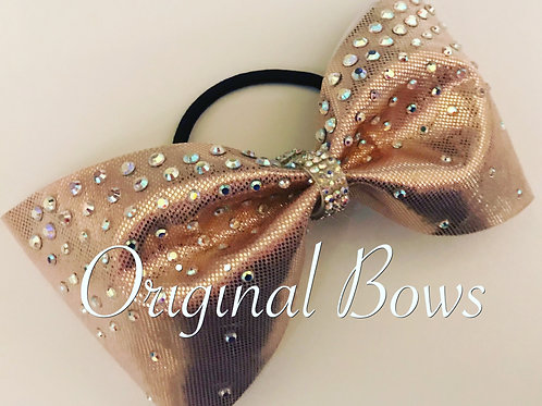 Rose Gold Satin Tailless Bow