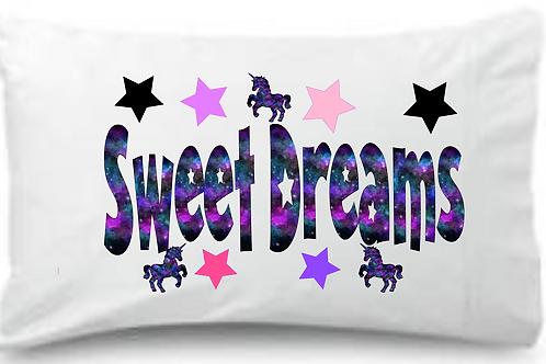 Sweet Dreams Unicorn Standard Pillowcase