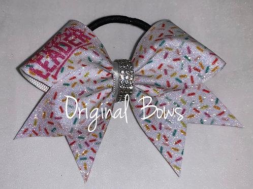 CHEERLEADER Sprinkles Glitter Pigtail Mini Bow