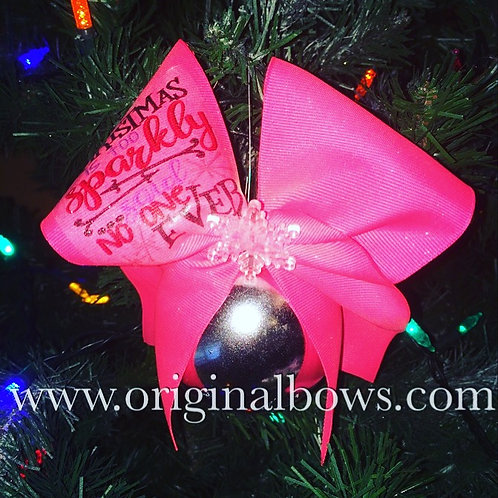 Cheer CHRISTMas is Too Sparkly Said NOONE Ever! Christmas Tree Ornaments