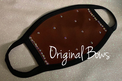 Maroon Rhinestone Face Covering Mask