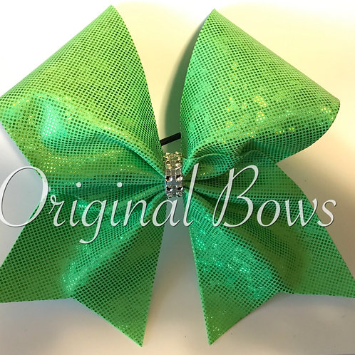 Lime Green Shimmer Cheer Bow